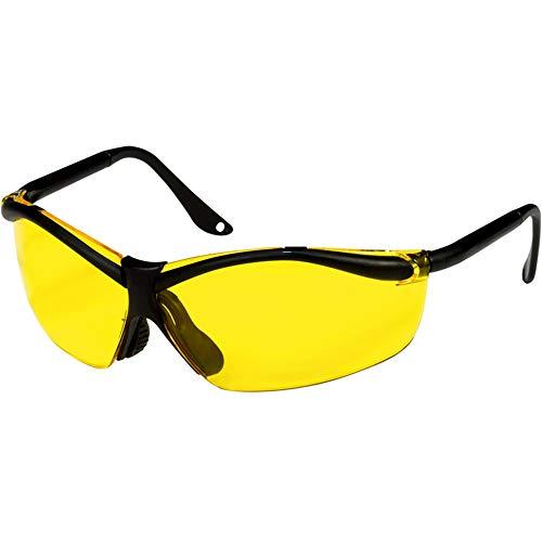 OKSLO Xfactor 3M Sports-Inspired Safety Eyewear, Semi-Rimless Design, Yellow Lenses ()