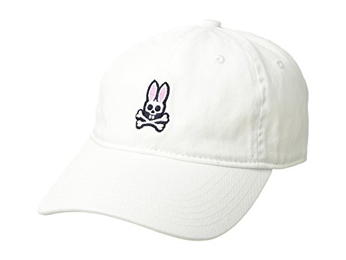 Psycho Bunny Men's Sunbleached Cap White One Size