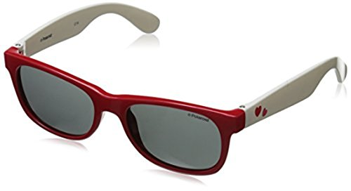 Polaroid Sunglasses P0300S Polarized Wayfarer Sunglasses, Red White, 42 - Polaroid Sunglasses Wayfarer