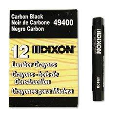 - Dixon Ticonderoga 49400 Black Lumber Crayon