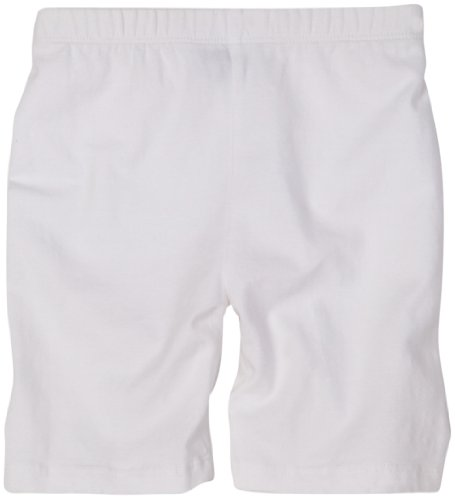 Flap Happy Little Girls' Solid Bike Short,White,6x