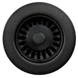 Houzer 190-9265 3-1/2'' Matte Black Basket Strainer