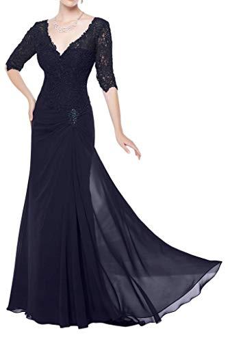 mia Navy Abendkleider Meerjungfrau Figurbetont La Spitze Hochwertig Braut Blau Promkleider Partykleider Champagner Rosa axqUd