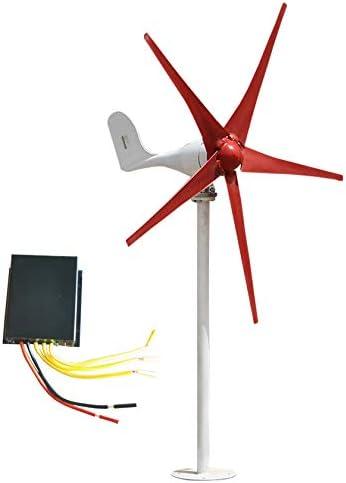 Windturbine 500W / 600W / 700W / 800W Wind-Turbine-Generator DC 12V / 24V Wind-Turbine-Generator Kit 5 Blades Wind Turbine Generator mit Controller für Power Supplementation,5 leaves-800W12V