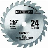 Rockwell RW9281 4 1/2-Inch 24T Carbide Tipped Compact Circular Saw (24t Blade)