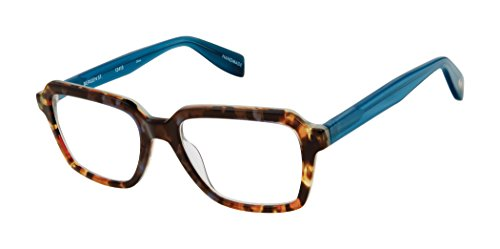 Bergen Street - Rectangular Trendy Fashion Reading Glasses for Men and Women - Canyon/Atlantic Blue (+1.75 Magnification Power) (Street Glasses Scojo Reading)