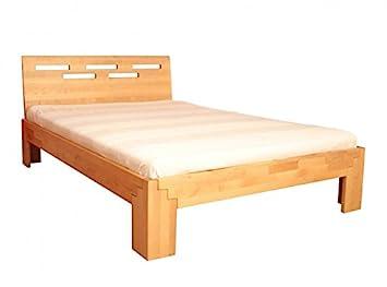 Amazon De Coemo Massivholz Bett 140x200 Holzbett Birke Natur Geolt