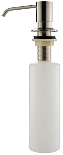 Yoco Built In Soap Dispensers Deck Mount Pump Liquid Lotion Kitchen Countertop Dispenser Brushed Nickel Stainless Steel with 13 Ounce PP Bottle (Wine Soap Pump Dispenser compare prices)