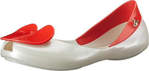 Price comparison product image Vivienne Westwood Girl Queen Flat (Little Kid / Big Kid),  Pearl / Red