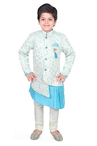 AHHAAAA Kids Ethnic Wear Kurta Pyjama Waistcoat Set for Boys