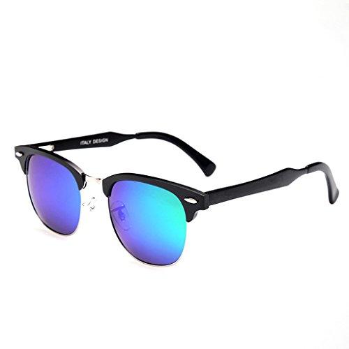 Simples Naranja De Hombres Verde Sol Gafas Retro Color WANGXIAOLIN tCaqU0wT