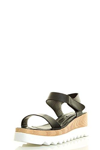 Cape Robbins Kvinnor Öppen Tå Lug Enda Plattform Kilklack Krok Och Ögla Sandaler Skor Svart
