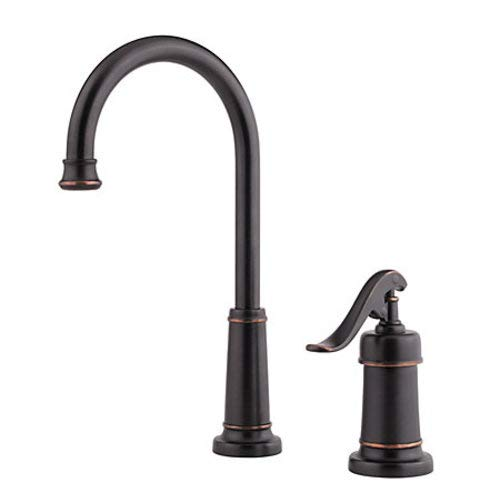 (Pfister LG72-YP2Y Ashfield 1-Handle Bar/Prep Kitchen Faucet in Tuscan Bronze, 1.8gpm)