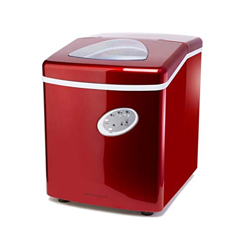 Improvements Portable 28 lb. Ice Maker Machine with Storage Cover - Red