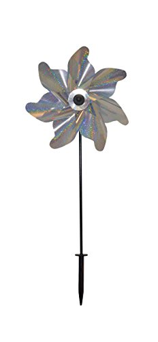 In the Breeze Silver Sparkle Pinwheel Spinner, 12-Inch ()