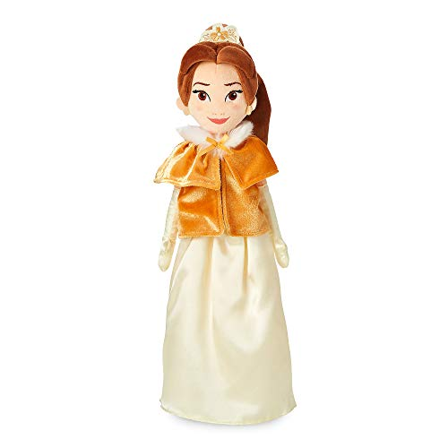 Belle Plush Doll - Disney Belle Plush Doll in Winter Cape - Medium - 19 Inch No Color