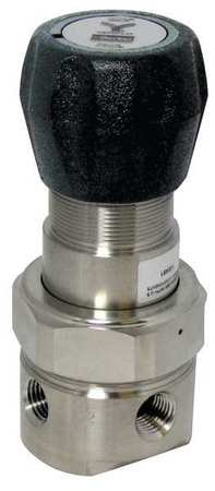 Pressure Regulator, 1/4 In, 20 to 500 psi by Veriflo