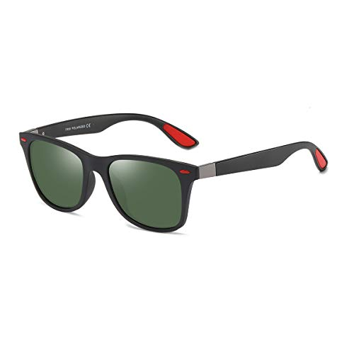 Black Gafas Hombre Gafas Green y para BE007 de Mujer Polarizadas Clásico Frame Retro BLEVET sol Lens Dark SHx7qFCqw