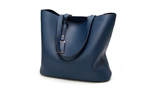 Bag Leather Suo Model Bag Blue Shoulder black Bag Big Handbags Shoulder Tote Women's Bag Hobo Dark qP0X75