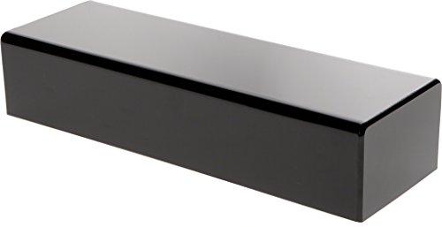 Plymor Brand Black Acrylic Rectangular Display Base, 3