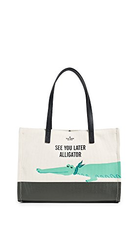 Kate Spade New York Women's Swamped Alligator Canvas Mega Sam Tote, Multi, One Size by Kate Spade New York