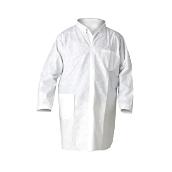Kimberly-Clark 10039 KleenGuard A20 Breathable Particle Protection Lab Coats X-Large White (25 per Case)