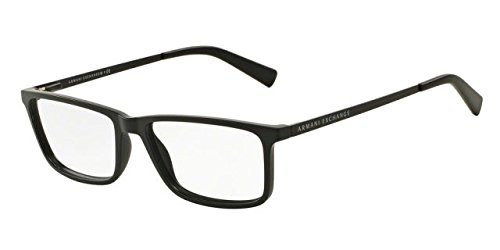 Armani Exchange AX3027F Eyeglass Frames 8078-55 - Matte Black - Frames Exchange Glasses Armani