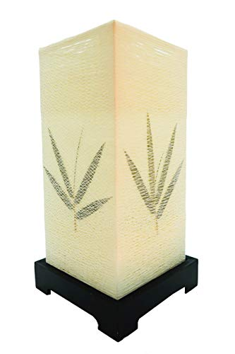 Import Nomad - Oriental Lantern Side Table Desk Lamp - Bamboo Leaf (Oriental Sale For Lamps)