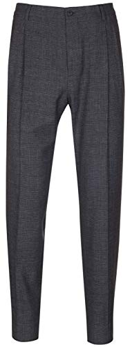 Dolce & GabbanaMen's Gray Wool Blend Checks Pleated Trousers Pants, Gray, 32