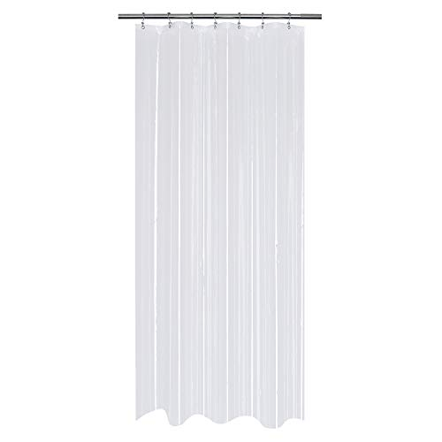 Mrs Awesome Small Stall Shower Curtain or Liner 36 x 78 inch, Clear PEVA 8G, Water Proof and Odorless