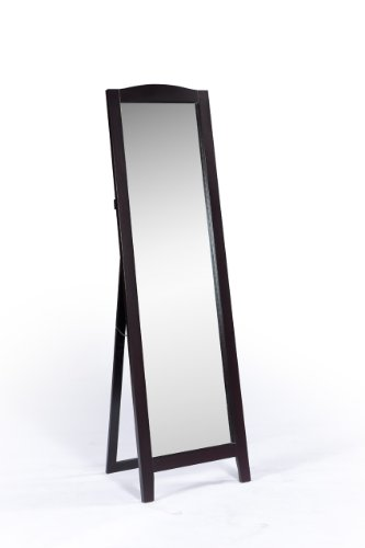 King's Brand Cherry Finish Wood Frame Floor Standing Mirror
