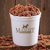 Mascot Glazed Pecan Halves Georgia Big Daddy 2 lb Tub! Arrives in Famous Mascot Dog Gift Box- Resealable Tub,For Parties, Picnics, Holidays, BBQ, Gift, Dad by Mascot Pecan Company