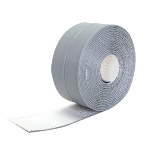 Dergo ☀ Wall Sealing Tape Wall Sealing Tape Waterproof Mold Proof Adhesive Tape Kitchen Bathroom 3.2mx2.2cm (Gray)