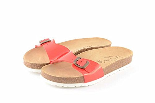 Le Clare Men's Cork Sandal with Anatomical Footbed -Color Red cGYVd