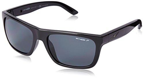Arnette Dropout AN4176-01 Polarized Sport Sunglasses,Gloss Black/Fuzzy Inked Purple/Grey Polarized,55 - Sunglasses Polarized Arnette