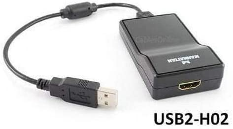 Manhattan 151061 USB2-H02 New USB 2.0 to HDMI Output Multi-Display Adapter Cable