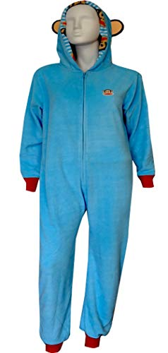 Paul Frank Women's 1PC. Jumper With Hood, Blue, - Frank Womens Pajamas Paul