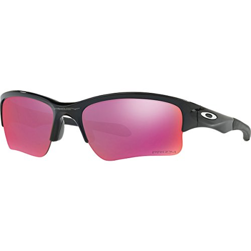 Oakley Boys Quarter Jacket (Youth Fit) Prizm Sunglasses, Polished Black/Prizm Field, One Size