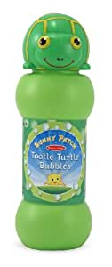 Melissa & Doug Sunny Patch Tootle Turtle Bubbles - Large and Small Wands, Tray
