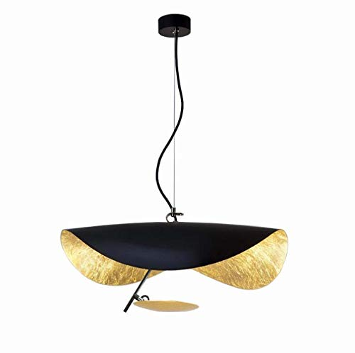 Tochange Nordic Style Simple Pendant Lighting Creative Cowboy Hat Ceiling Light Fixture for Dining Room Cafe Lamps,15w,Warm Light,Diameter 40cm/60cm,60cm