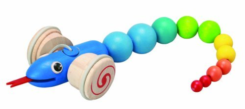 Pull Along Snake - Wooden Toy by Plan Toys ()