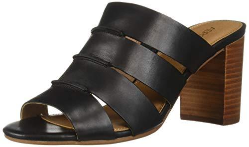 Aerosoles Women's Sky HIGH Slide Sandal, Black Leather, 9 M -