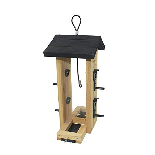 Emily Pets Hanging Platform Wooden Bird Feeder with Easy to Clean Removable Cedar Tray for Outdoor Use (B07JX5C6JG) Amazon Price History, Amazon Price Tracker