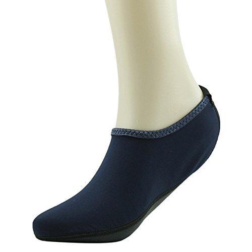 Startseite Slipper Barfuß Wasser Haut Schuhe Aqua Neopren Socken für Strand Pool Sand Swim Surf Yoga Schnorcheln Navy blau