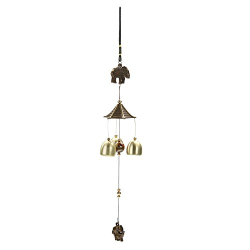 TWQusni Antique Wind Chime Cooper Tubes Bells Windchimes Outdoor Living Yard Garden Wall Hanging Decoration Ornaments Elephant