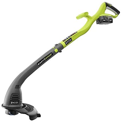 Ryobi ZRP2030 10in 18V Li-Ion Cordless Electric String Weed Grass Trimmer  Edger Kit with Battery and Charger (Renewed)