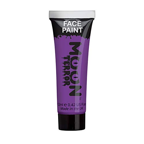 Witch Face Paint Designs For Halloween (Moon Terror - Halloween Face Paint for The Face & Body - 0.40fl oz - Create Spooky face Paint Designs! Perfect for Vampire, Ghost, Skeleton, Witch, Pumpkin, Monster etc -)