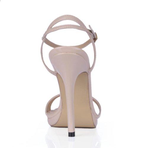 Yksinkertainen Tikari Patenttia Sandaali Moniväriset Mekko Sm00601 Dolphinbanana Kenkiä Pumput Naisten Vaaleanpunaisen Kallistuneen dCAdq