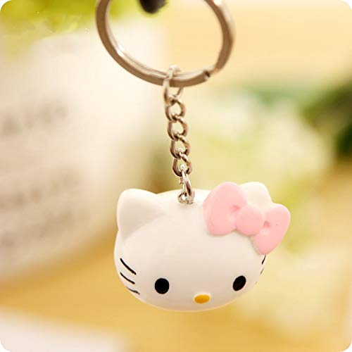 Key Chains - Cute Hello Kitty Keychain Bow Key Chain Silicone KT Key Rings for Car Key Chains Holder Trinkets Charm Llaveros Bag Accessories - by YPT - 1 PCs