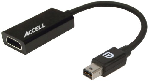 Accell Mini DisplayPort 1.1 to HDMI 1.4 Active Adapter - AMD Eyefinity Certified, 4K UHD @30Hz, 1920x1080@120Hz - Poly Bag Package